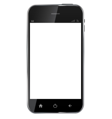 Abstract design  realistic mobile phone with blank screen isolated on white background..Vector  illustration Vector