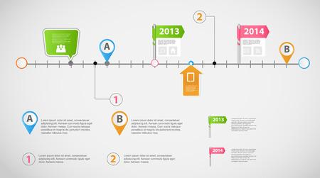 Tijdlijn infographic business template vector illustratie Stock Illustratie