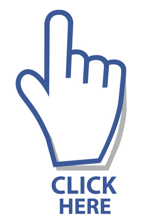 mouse click: Mouse hand cursor click  button vector illustration
