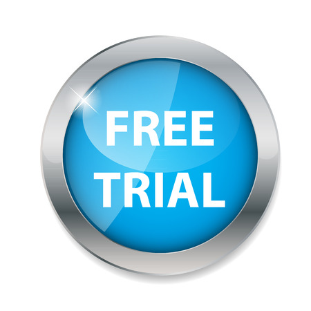 free trial: Free trial  button vector illustration