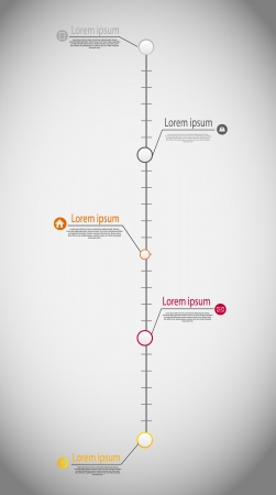 Timeline infographic business template vector illustration Vector
