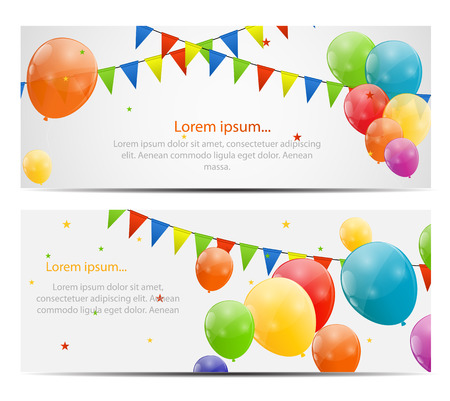 Color glossy balloons background vector illustration  イラスト・ベクター素材