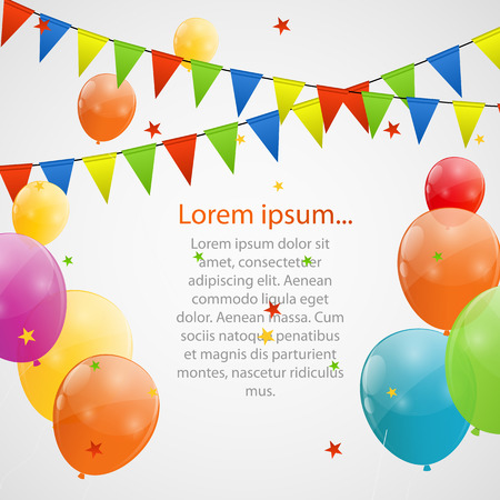 Color glossy balloons background vector illustration Stock Illustratie