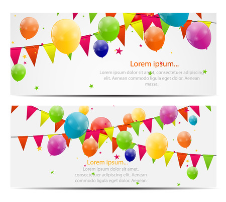 Color glossy balloons background vector illustration 矢量图像