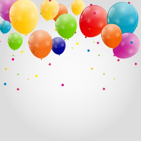 balloons background: Color glossy balloons background vector illustration Illustration