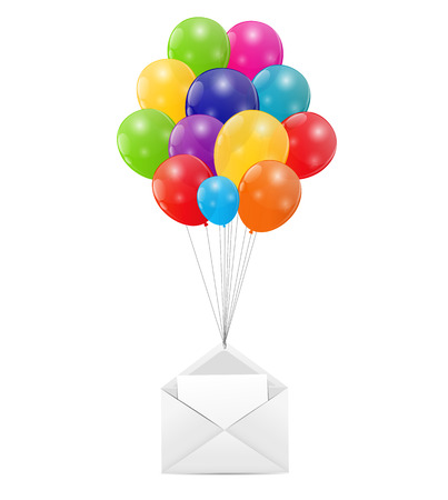 Envelope with Balloons Vector Illustration Stock Vector - 25082541