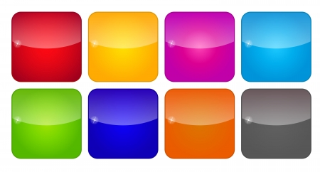 Colored Application Icons for Mobile Phones and Tablets Illustration Vector