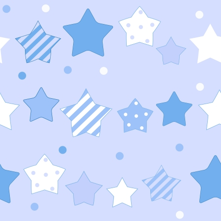 Cute Star Seamless Pattern Background Vector Illustration Vector