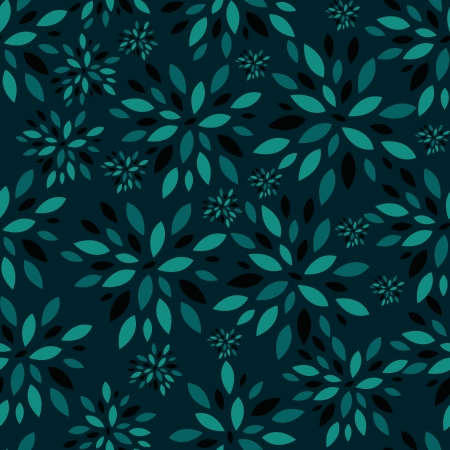Flower Leaves Seamless Pattern Background Illustration Vector