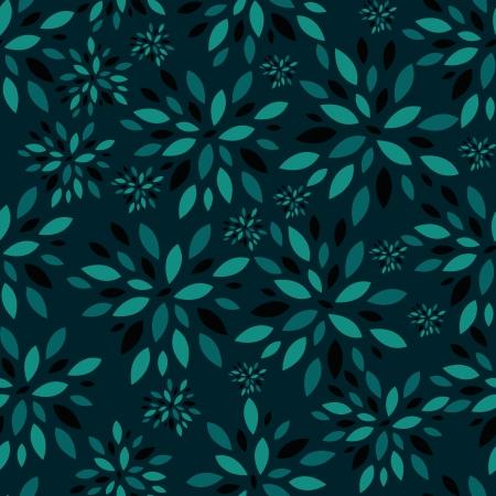 Flower Leaves Seamless Pattern Background Illustration Vector