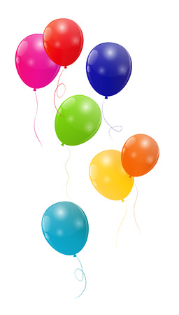 party balloons: Color Glossy Balloons Background Illustration