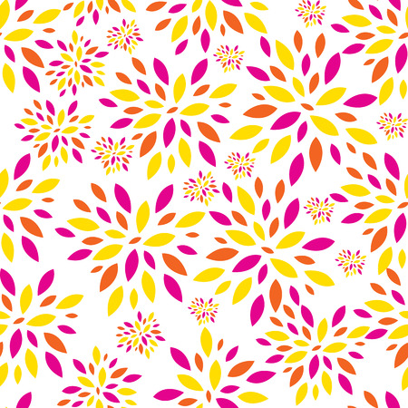 Flower Leaves Seamless Pattern Background Vector Illustration Vector