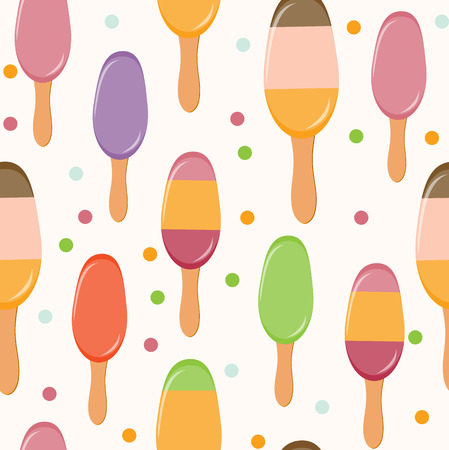 Retro Ice Cream Seamless Pattern Background Illustration Stock Vector - 25081330