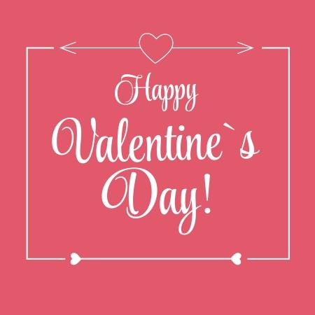 valentine married: St Valentine Days Greeting Card in Retro Style Design Illustration