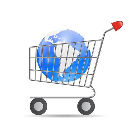 Global Shopping Concept illustration . Vector