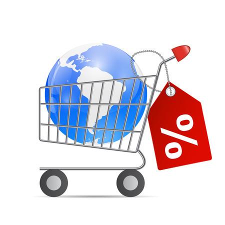 consumerism: Global Shopping Concept illustration .