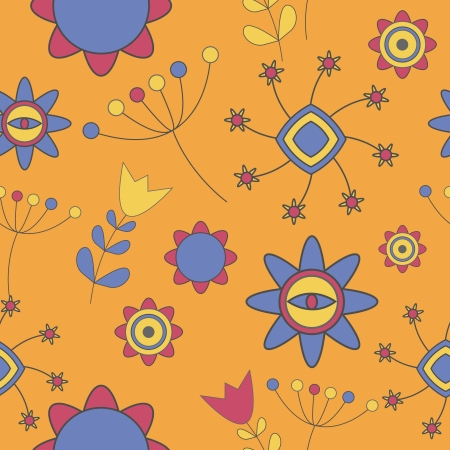 Abstract Cute Background  Flower Seamless Pattern Vector Illustration Vector