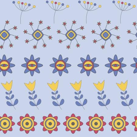 Flower Seamless Pattern Illustration Vector
