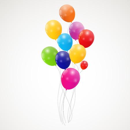Kleuren glanzende ballonnen achtergrond illustratie
