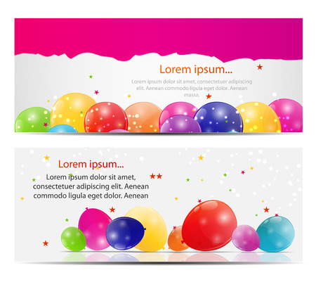 Color Glossy Balloons Card Background Illustration Vector