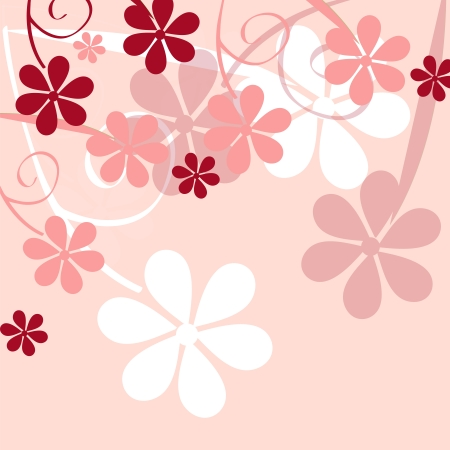 softly: romantic flower background illustration