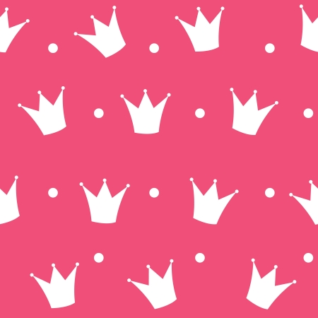princess frog: Princess Crown Seamless Pattern Background Illustration.