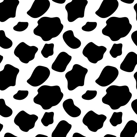 Cow Seamless Pattern Background Illustration Vector