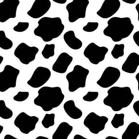 milchkuh: Kuh nahtlose Muster Hintergrund Illustration Illustration