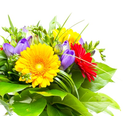 Colorful flowers bouquet photo
