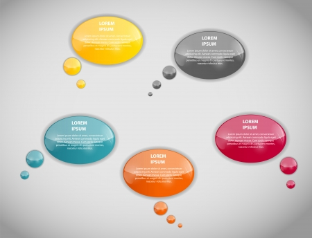 Speech bubbles vector illustration Vector