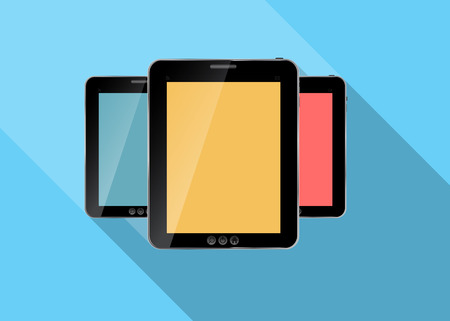 Abstract design realistic tablet flat icon. Vector illustration Stock Vector - 26337414