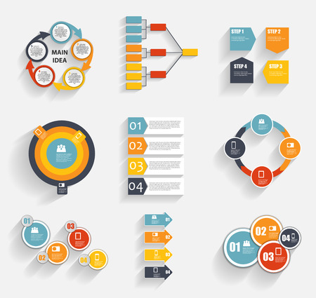 Collection of Infographic Templates for Business Illustration Vector