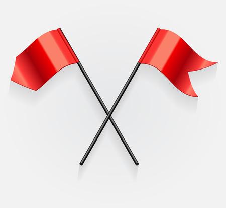 flagstaff: Flags. Vector Illustration Illustration