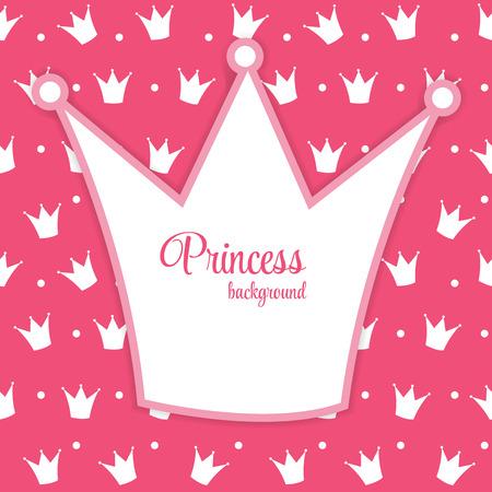 Princess Crown  Background Vector Illustration. Vector