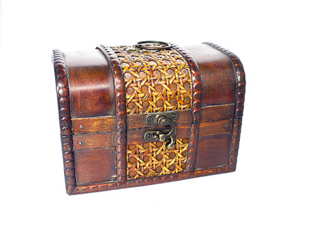 Old Wooden Open Chest photo