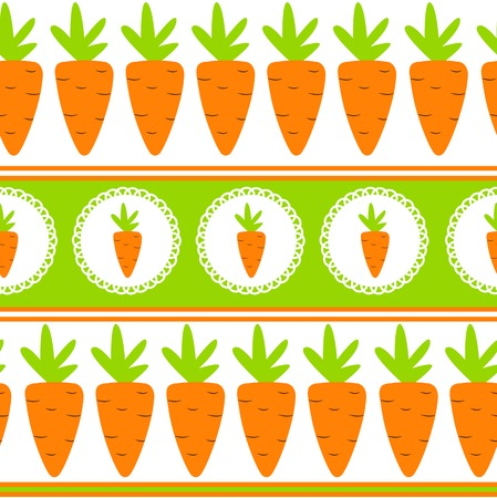 agriculture wallpaper: Carrot Seamless Pattern Background Vector Illustration