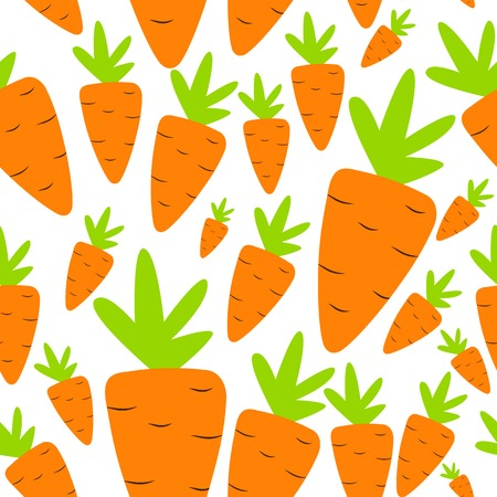 Carrot Seamless Pattern Background Vector Illustration Vector
