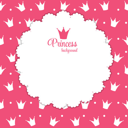 industry pattern: Princess Crown  Background Vector Illustration.