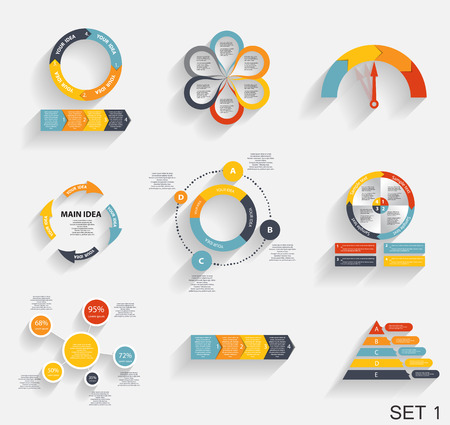 Collection of Infographic Templates for Business Vector Illustration Vector