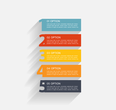 Infographic business template illustration Vector