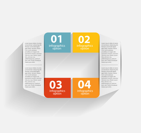 Infographic business template illustration
