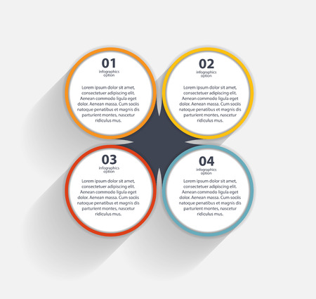 business template: Infographic business template illustration
