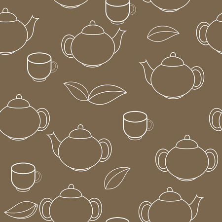Tea Seamless Pattern Background Illustration Vector