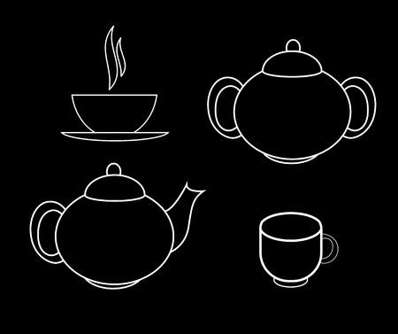 Tea Icons Illustration Vector