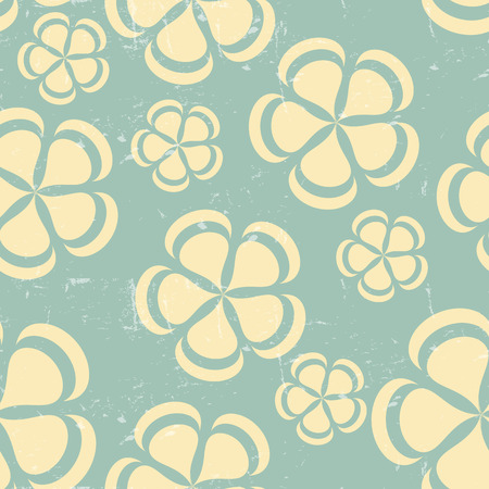 petunia: Grunge Retro flower pattern background seamless