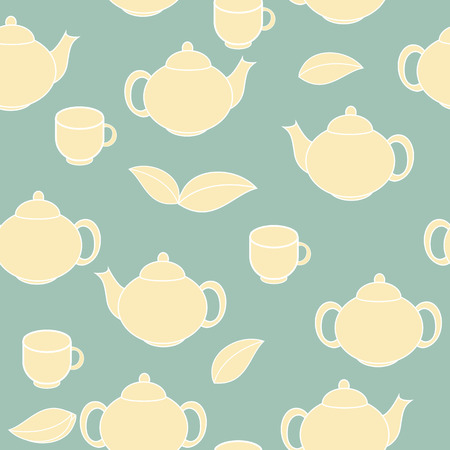 Tea Seamless Pattern Background Vector Illustration Vector