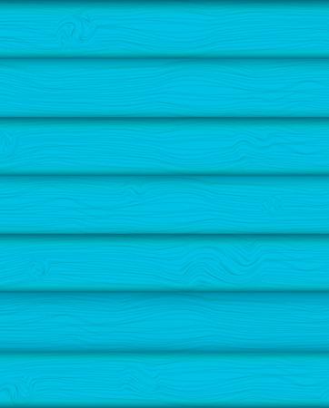 log wall: Blue Summer boards Background vector Illustration.