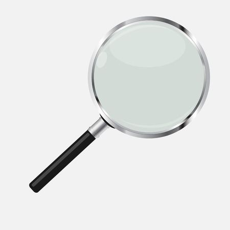 looking glass: Magnifying Glass Search Icon Vector Illustration