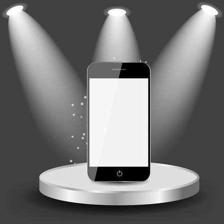 shelve: Mobile Phone on Shelve  Vector illustration