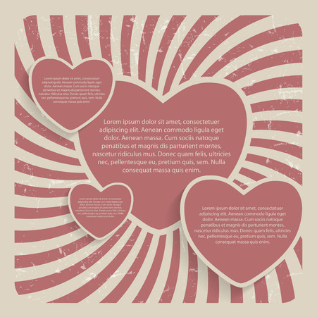 Abstract Heart Retro Grunge Background Vector Illustration Vector